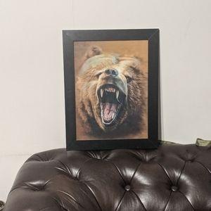 Holographic brown bear portrait